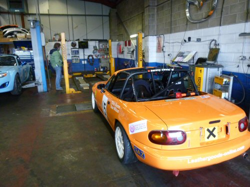 mx5 for corner weighting