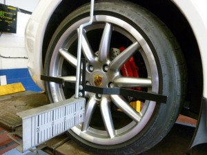 porsche wheel alignment service